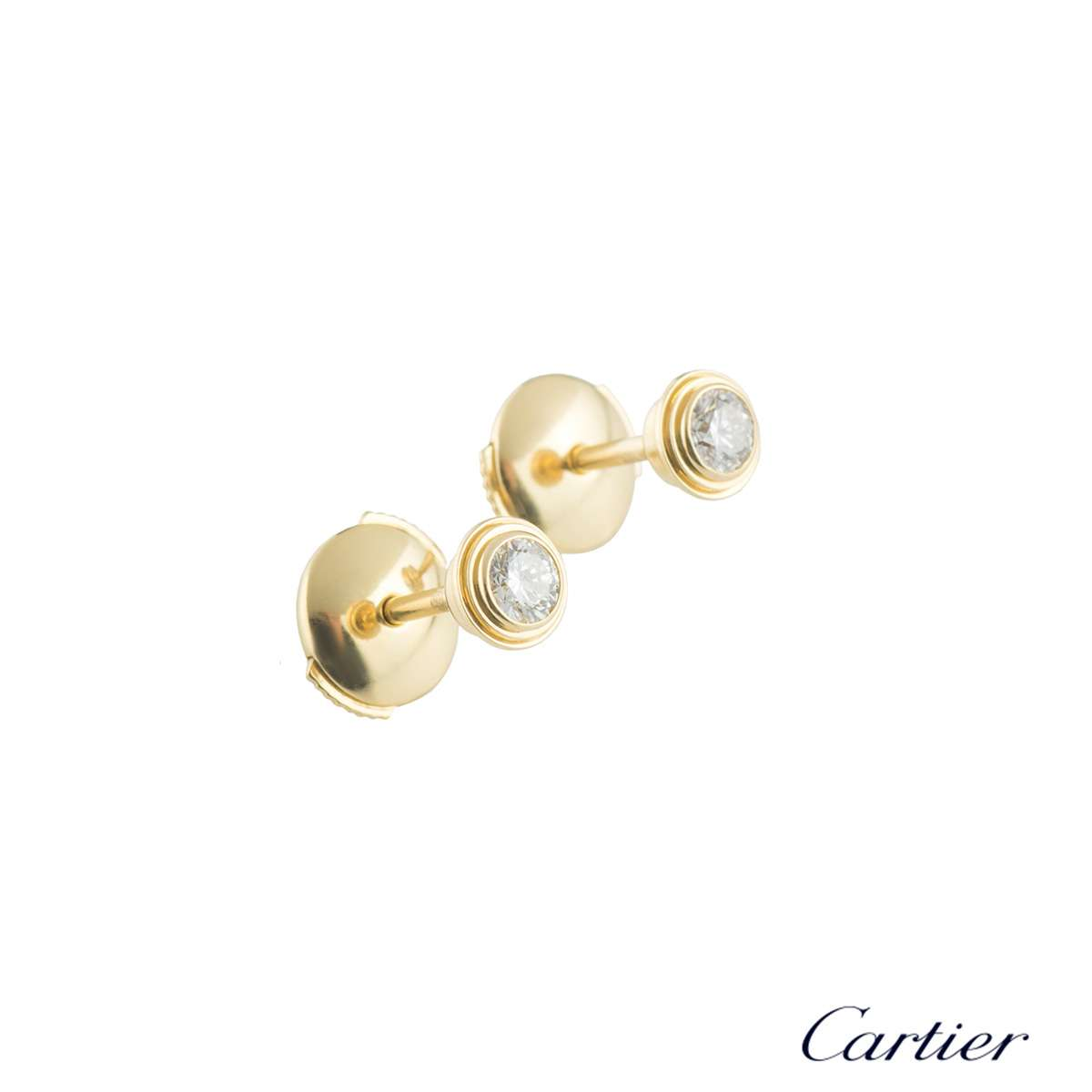 Cartier Yellow Gold Legers Diamond Earrings B8041600